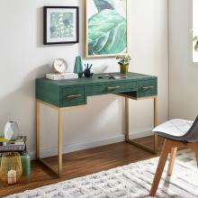 Carabelle Emerald and Gold Writing Desk w/ Drawers