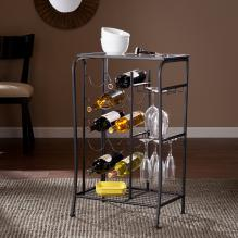 Marengo Wine Rack Storage Table - Black