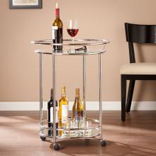 Cressida Bar Cart - Chrome