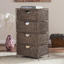 Kelsey Seagrass 4-Drawer Storage