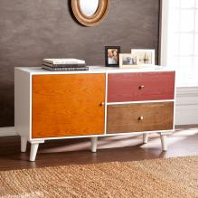 Colorblock Anywhere Storage Cabinet/Console - Multi Wood