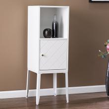 Herzo Tall Storage Cabinet - White