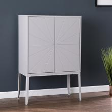 Zetherdale Double-Door Storage Cabinet - Gray