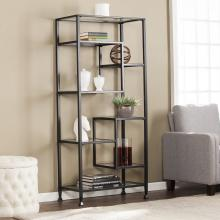 Jaymes Metal/Glass Asymmetrical - Bookcase
