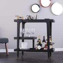 Holly & Martin Zhori Midcentury Modern Bar Cart - Black