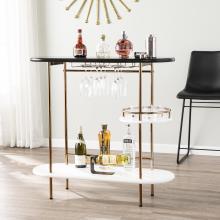 Dagney Wine/ Bar Table w/ Glassware Storage