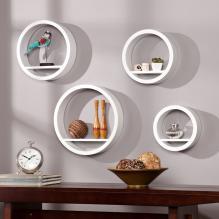 Bali Circle Shelf 4pc Set - White