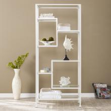 Jaymes Metal/Glass Etagere - White