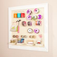 Anna Griffin Craft Room Wall Mount Framed Peg Board