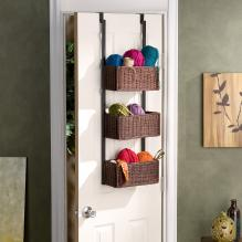 OVER-THE-DOOR 3 TIER BASKET STORAGE - MATT BLACK M