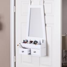Larissa Over-the-Door Mirror/Accessory Organizer