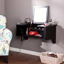 Wall Mount LEDge w/ Vanity Mirror - Black