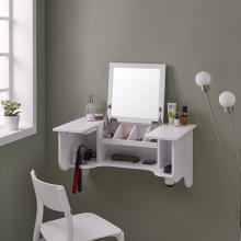 Wall Mount Ledge w/ Vanity Mirror - Transitional Style
