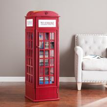 PHONE BOOTH CABINET - RED