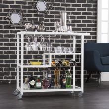 Holly & Martin Zephs Bar Cart - White
