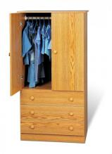 Oak Edenvale 3 Drawer Wardrobe