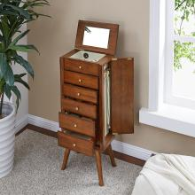 Wesley Jewelry Armoire - Midcentury Modern Style