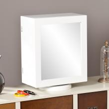 Shelby Table-Top Jewelry Armoire - White