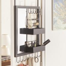 Jayla Over-The Door Jewelry Mirror/Anywhere Storage