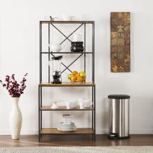 Patrick Two-Tone Mixed Material Bakers Rack