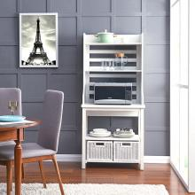 Sheldrake Bakers Rack - Modern Farmhouse Style - White
