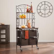 Bakers Rack W/ Storage Baskets