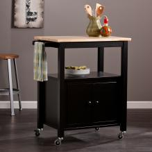 Kenner Kitchen Cart - Black