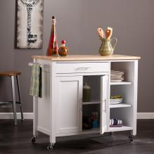 Martinville Kitchen Cart - White