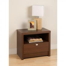 Warm Cherry Series 9 Designer - 1 Drawer Nightstand