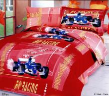 F1 Red - Duvet Cover Bed In Bag - Twin Kids Bedding Juvenile Set