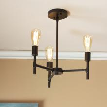 Scutari 3-Light Semi-Flush Mount Ceiling Light