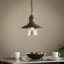 Ravyn Metal and Hand-Blown Glass Bell Pendant Lamp