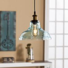 Gracelyn Colored Glass Bell Pendant Lamp - Soft Aqua