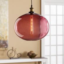 Mera Colored Glass Pendant Lamp - Magenta