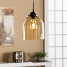 Pavo Colored Glass Mini Pendant Lamp - Amber