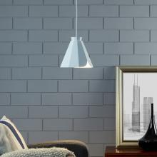 Millie White Midcentury Modern Pendant Lamp