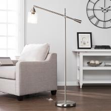 Tiernan Floor Lamp - Contemporary Style - Brushed Nickel