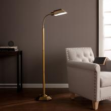 Ottlite Alton Task Floor Lamp - Honey Brass