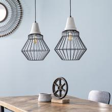 Brodiman Pendant Lamp Collection - 2pc Set - Black