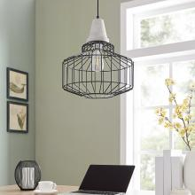 Brantville Black Cage Pendant Lamp