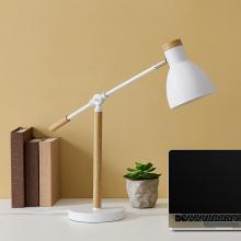 Pike Adjustable White Desk Lamp