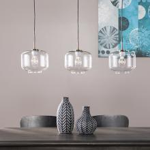 Alandari Glass Pendant Lamps - 3pc Set