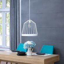 Clio Metal Pendant Lamp - White
