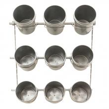 9 Bucket Rack