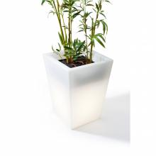 Hugo Pot Short - White (with outdoor cord, and waterdrain system)