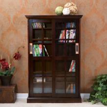 Sliding Door Media Cabinet - Espresso
