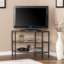 Niles Metal/Glass Corner TV Stand - Black
