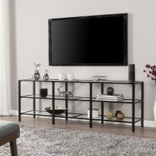 Tyler Metal/Glass TV Stand - Transitional Style - Black