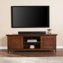 Beymer TV/Media Stand - Transitional Style - Whiskey Maple