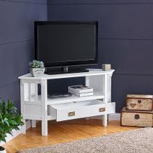 Carson Corner TV Stand - White